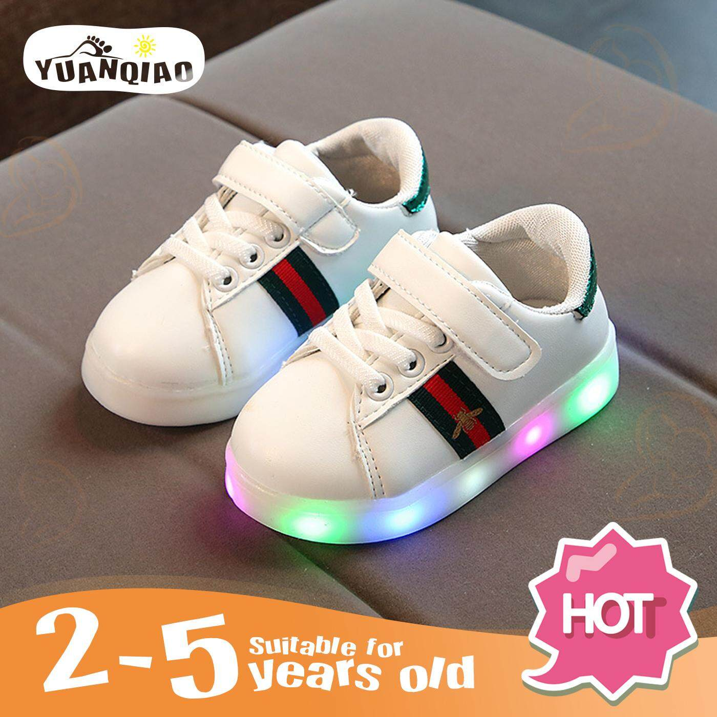 4a4652a1ec3 YUANQIAO Children Shoes Boys Girls Led Light Luminescence Kids Sports Shoes  Fashion Leisure Sneakers Baby Shoes
