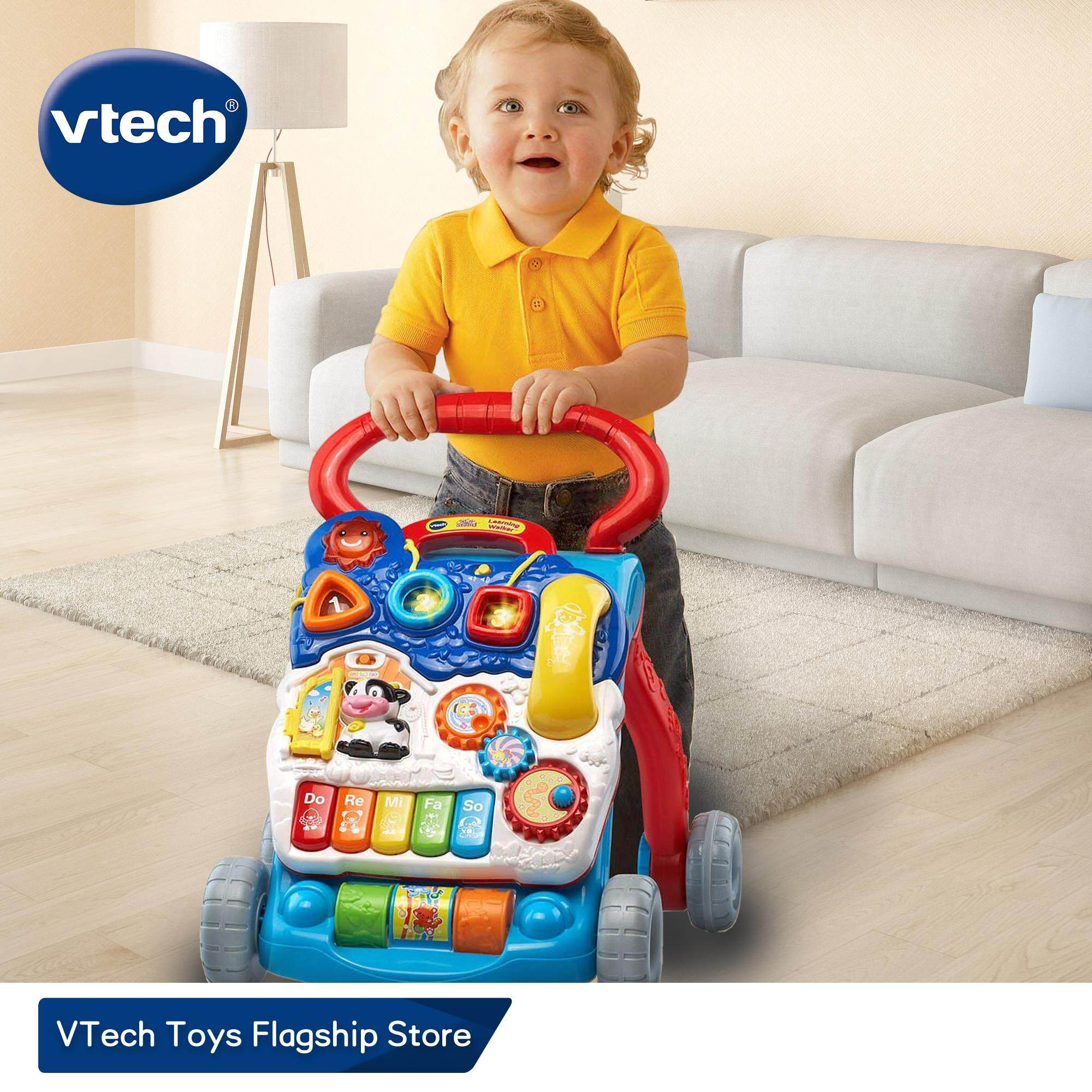 VTech Baby Push Walker with Adjustment Speed Control and 8 Types of Learning Contents Baby Toys for 9/10/11/12 months