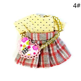 FOO 1 12 Trang Phục Quần Áo Búp Bê Bộ Váy Búp Bê Nhà Búp Bê, Váy Búp Bê Nhiều Màu 6 Inch thumbnail