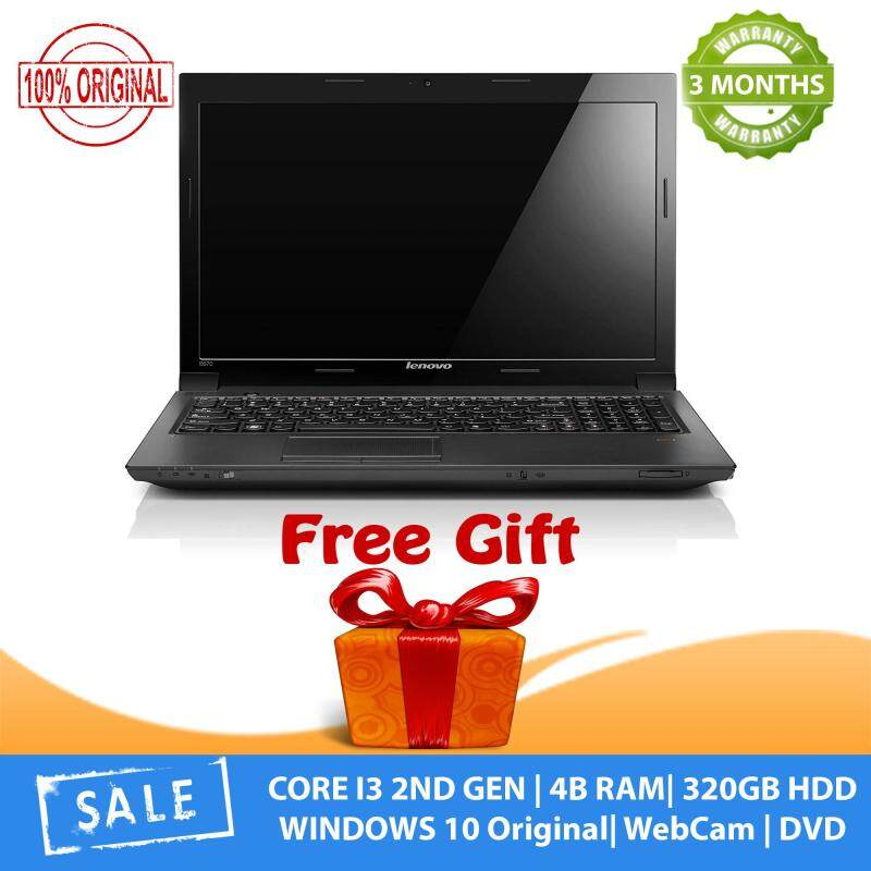 Lenovo i3 Laptop - 320GB HDD, 4GB RAM , WebCam , 3 Months Warranty , Free Items 100% Original (Factory Refurbished) Malaysia