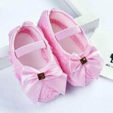 Giày Trẻ Em Bé Gái Dễ Thương Giày Hoa Mẫu Đơn Trẻ Sơ Sinh Giày Trẻ Em 0-18 Tháng