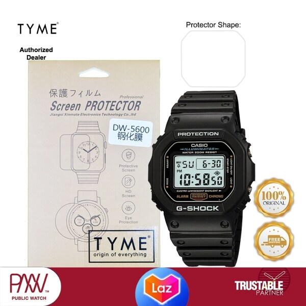 TYME Screen Protector for Casio G-Shock GA-100, DW-5600 Model (HD Tempered Glass with Hydrophobic Coating) Malaysia