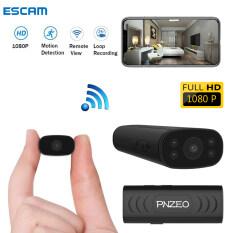 【Ready Stock】ESCAM Camera Mini WiFi 1080P HD Giám Sát Thông Minh , Ghi Hình Xem Từ Xa Không Dây WiFi Camera,camera siêu nhỏ