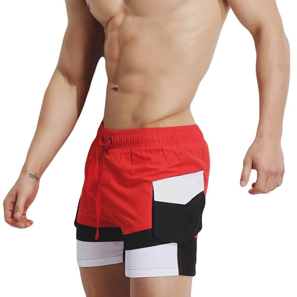 db00fdb8cd2 Mens Breathable Swim Trunks Pants Swimwear Shorts Slim Wear Bikini Swimsuit