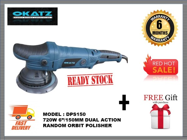 OKATZ DPS150 6/150MM 720W DUAL ACTION RANDOM ORBIT POLISHER