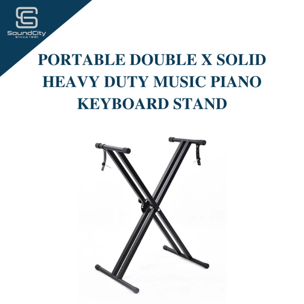 Portable Double X Solid Heavy Duty Music Piano Keyboard Stand (Installed) Malaysia