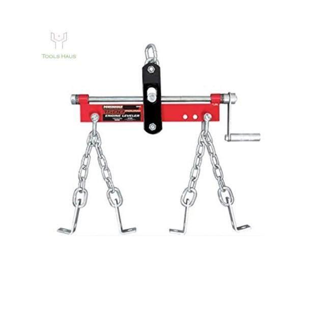 Red Engine Hoist Crane Accessory Steel Engine Leveler 3/4 Ton 1500lb 750kg Capacity