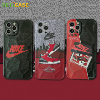 Giày Ni Ke AJ Ngầu, Ốp Điện Thoại Gập Ghềnh Dành Cho Apple IPhone 11 12 Pro X XS Max XR 8 7 Plus Silicone Mềm Mini SE2 Ốp Lưng Bảo Vệ Ốp Di Động Màu Đen Xám Đỏ thumbnail