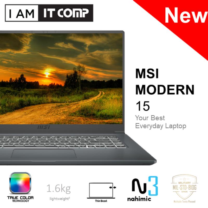 MSI Modern 15 A11M-077 / A11SBL-628 15.6 FHD 60Hz Laptop (I7-1165G7/8GB/512GB/UMA [MX450]/W10) FOC MSI SLEEVE Malaysia