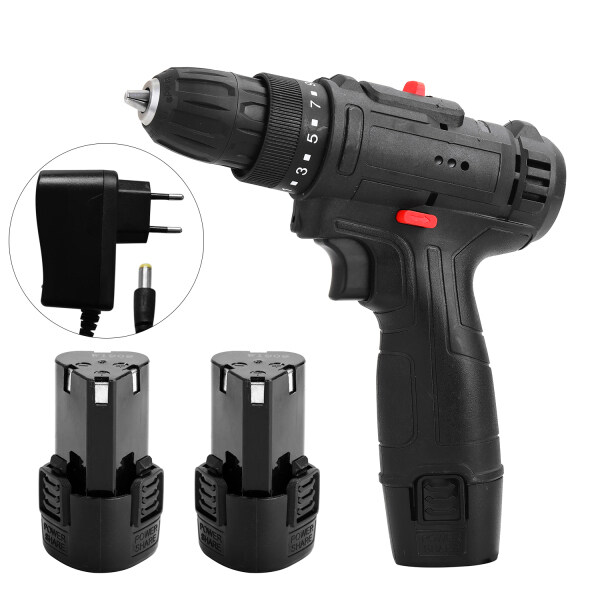 12V Multifunctional Electric Impact Cordless Drill High-power Lithium Battery Wireless Rechargeable Hand Drills Home DIY Electric Power Tools
