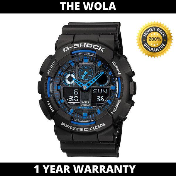[100% Original G SHOCK] Casio G-Shock Sport Men Watch GA-100-1A2 (watch for man / jam tangan lelaki / casio watch for men / casio watch / men watch / watch for men) Malaysia