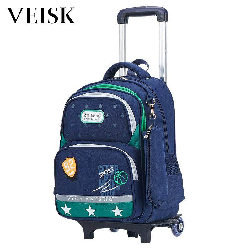 Veisk Children Trolley Bag High-grade Environmental Protection Fabric