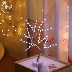 LED Bông Tuyết Cây Đồng Dây Đèn Bàn Trang Trí Sáng Tạo Điều Khiển Cảm Ứng Ánh Sáng Ban Đêm Chất Lượng Cao
