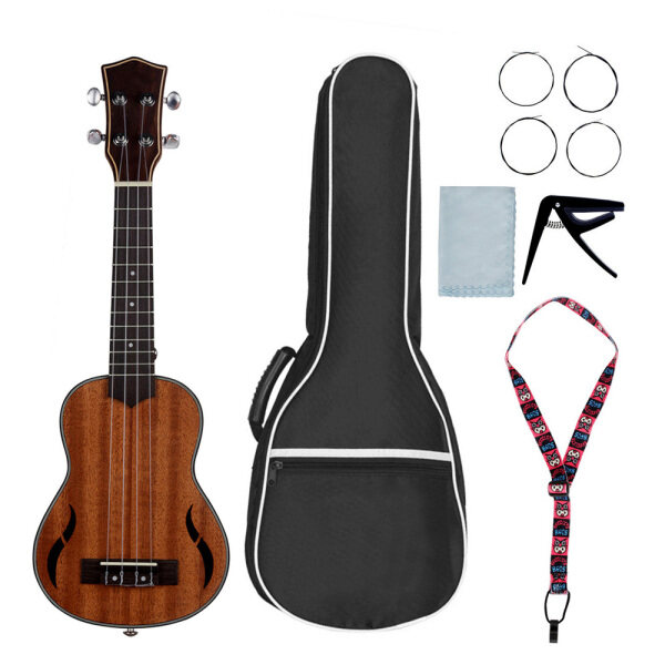 21/24/26 Inch Acoustic Tenor Ukulele Ukelele Uke Walnut Wood Nylon Strings Close Type Tuning Pegs Sting Instrument Malaysia