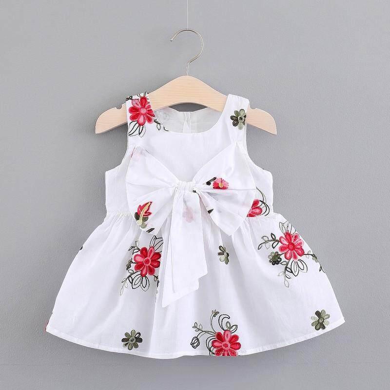 Nơ Váy Đầm Cho Cô Gái Trẻ Em Cho Bé Gái Váy Đầm Không Tay
