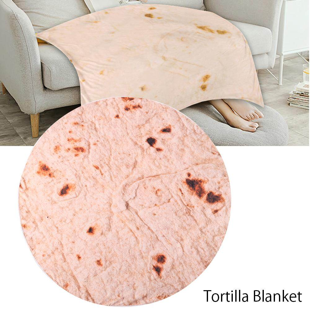 Bedding Quilt 1x Burrito Blanket Throw Tortilla Texture Fleece Super Bed Sofa