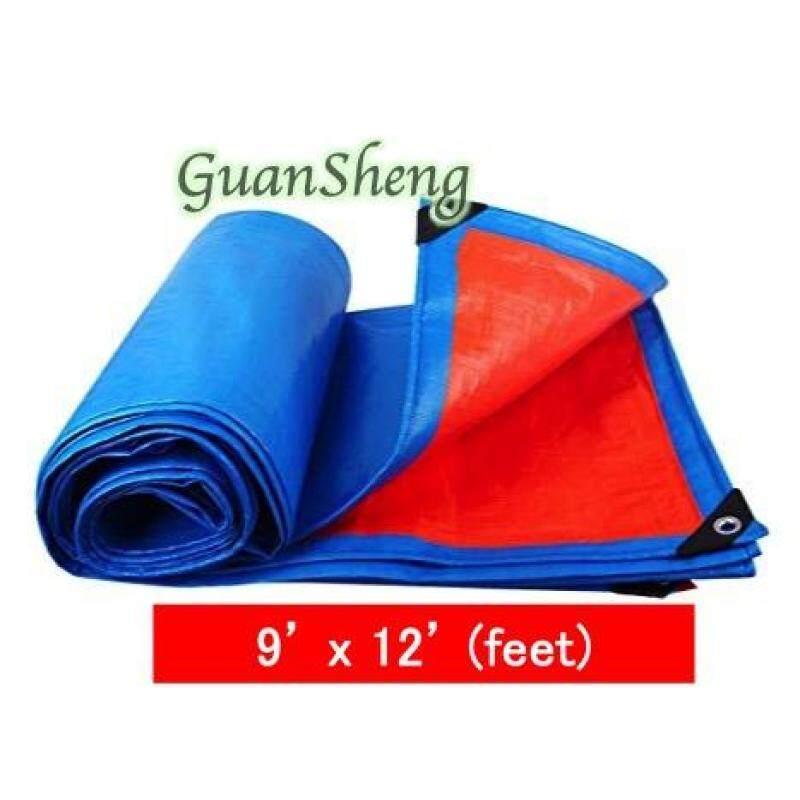 Tarpaulin Sheet Canvas - Blue Orange 9x12/ 12x18/ 20x20/ 18x24