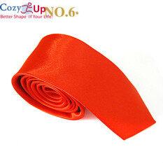 Cà Vạt Ấm Áp Cho Nam Cổ Hẹp Sợi Polyester Màu Trơn Mỏng Thời Trang Trang Trọng Dự Tiệc Màu Vàng Hoàng Gia Rộng 5Cm
