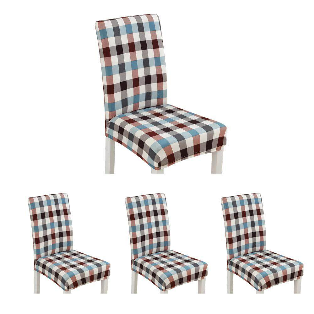 OutFlety 4Pcs Modern Printing Stretch Dining Chair Covers Removable Washable Spandex Slipcovers for High Chairs