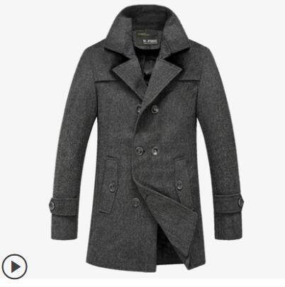 8308ba7da6a7 Autumn And Winter New Style Men Woolen Coat Men's Wear Winter Slim Fit  Woolen Overcoat Men