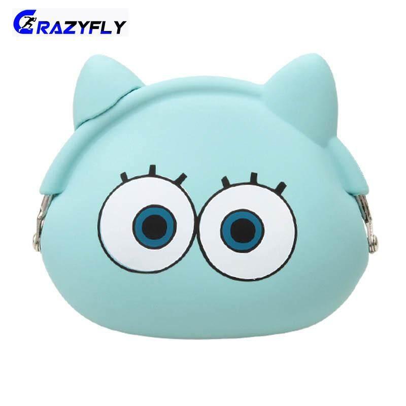Crazyfly Mini Adorable Children Cartoon Wallet Portable 3D Silicone Purse for Kids