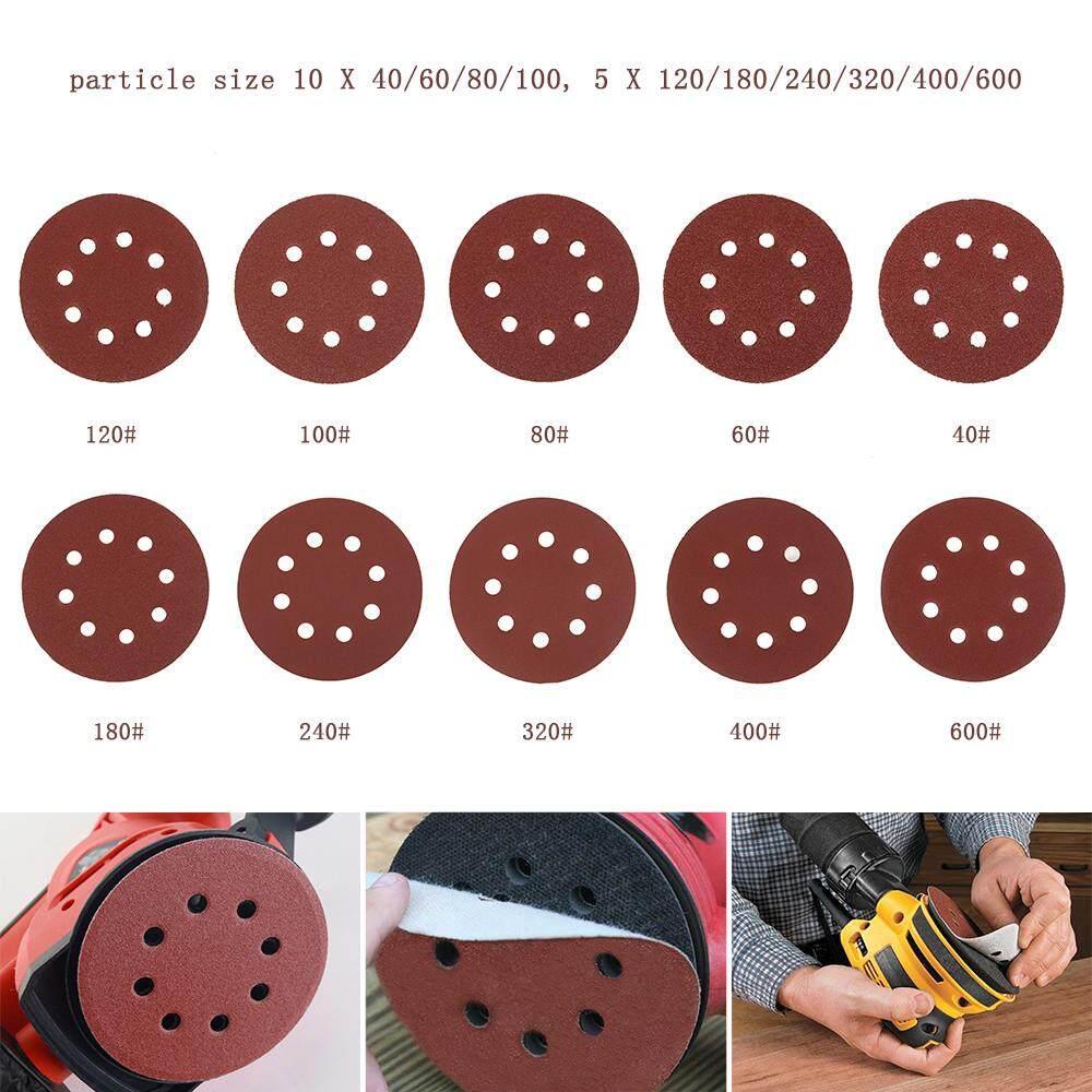 70pc Flocking Sandpaper Set Sanding Discs Pads Mix Orbital Sander Hook Loop Sandpaper