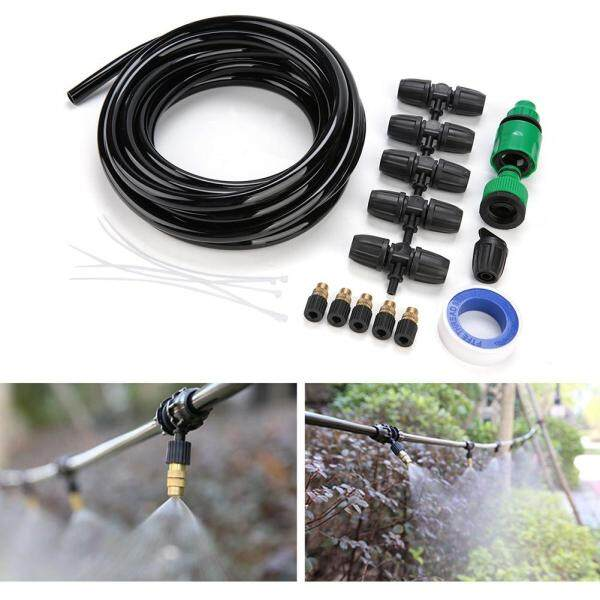 Clearance sale[salmopho+Ready Stock]Adjustable Lock Copper Micro Nozzle Sprinkler System Kit for Patio Garden Greenhouse Plant Singapore