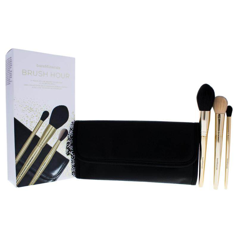 Buy bareMinerals Brush Hour Collection - 4 Pc Set Seamless Shaping and Finish Brush, Dual-Finish Blush and Contour Brush, The Blender Brush, Trousse Singapore