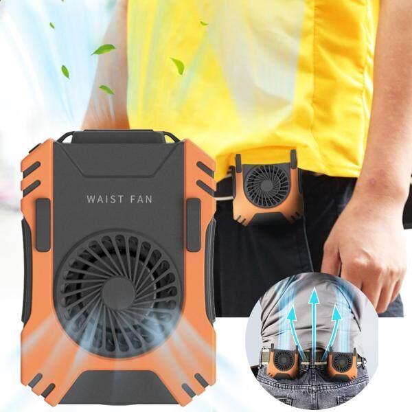 Hand Free Waist Fan Mini Personal Belt Fan Multifunctional Durable Hanging Waist Fan for Chef Farmer
