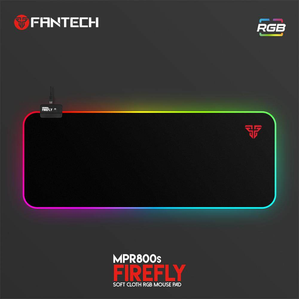 Fantech MPR800 FireFly Gaming Soft Cloth RGB MousePad (14 Spectrum Mode) Malaysia