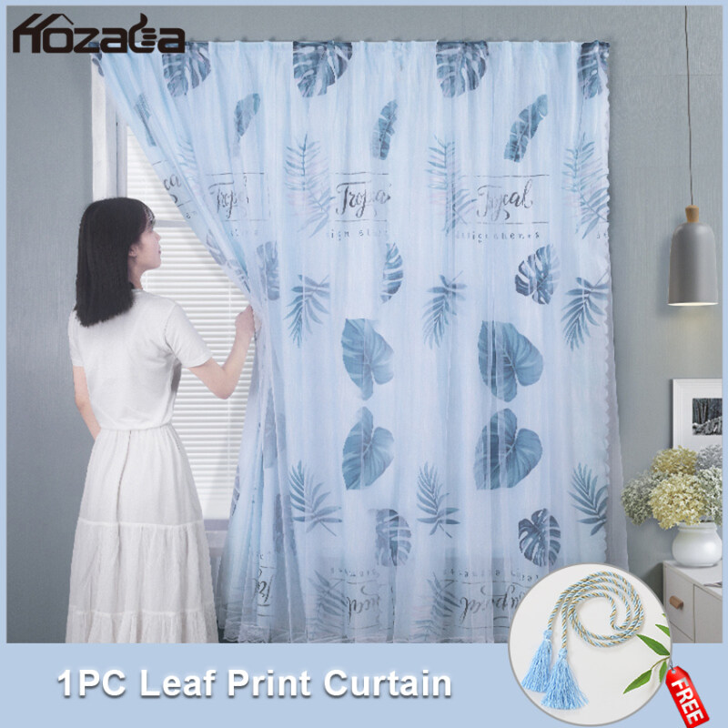 Hozada Rèm cửa Độ bóng 40% -50% Thích hợp cho phòng ngủ phòng khách 1 PCS 1pcs Curtains Blackout Shading Curtains UV Protection Draperies Home Bedroom Printing Balcony Thermal Insulated Curtains120x150cm/180x180cm