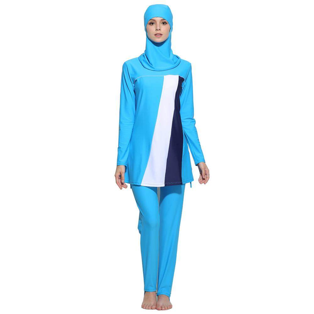 6144230ec6 USERKING SHOP Modest Women Muslimah Plus Size High Quality Muslim Short  Sleeve Swimwear Islamic Swimsuit