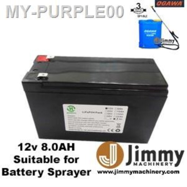 12V 8.0Ah Rechargeable Sealed Lead Acid Battery Knapsack Battery Sprayer Heavy Duty Pump Racun Spare Part Replacement
