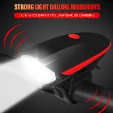 Đèn Pha LED 5W 240LM XPG Chống Nước Cho Xe Đạp Leo Núi Có Thể Sạc Lại Có Sừng