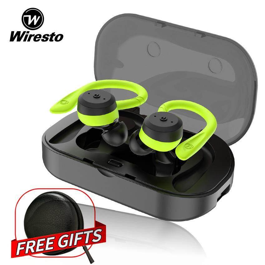 Wiresto True Wireless Earbuds Mini Bluetooth Earphone Sport Headphone IPX7  Waterproof HD Stereo Headset with Microphonr for Running Sport Gym Workout
