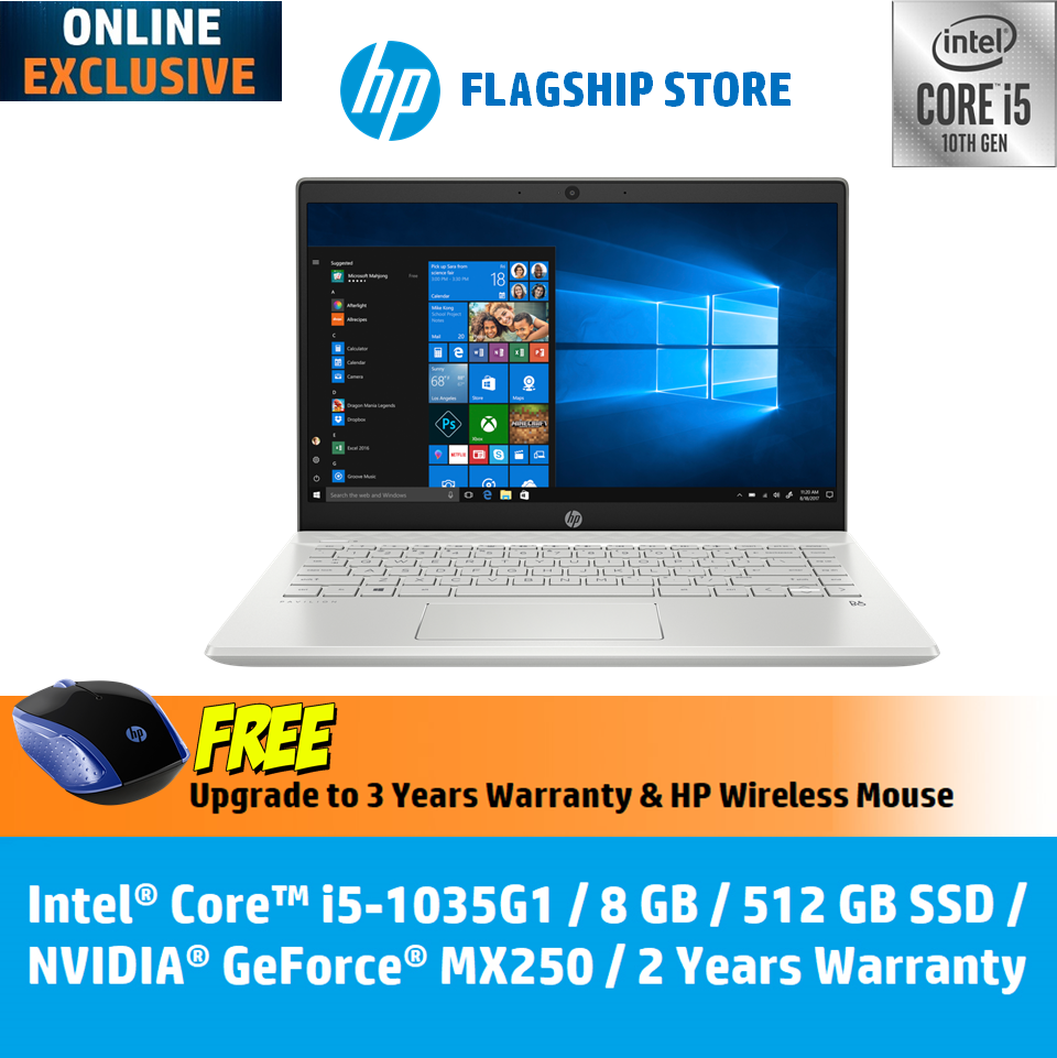 HP Laptop Pavilion - 14-ce3050tx - Intel 10th Gen Processor **ONLINE EXCLUSIVE** [FREE HP Wireless Mouse, Upgrade to 3 Years Warranty, Delivery & Backpack][FREE Redemption : Microsoft Office 365 Personal worth RM499 [20 Dec - 15 Feb 2020] Malaysia