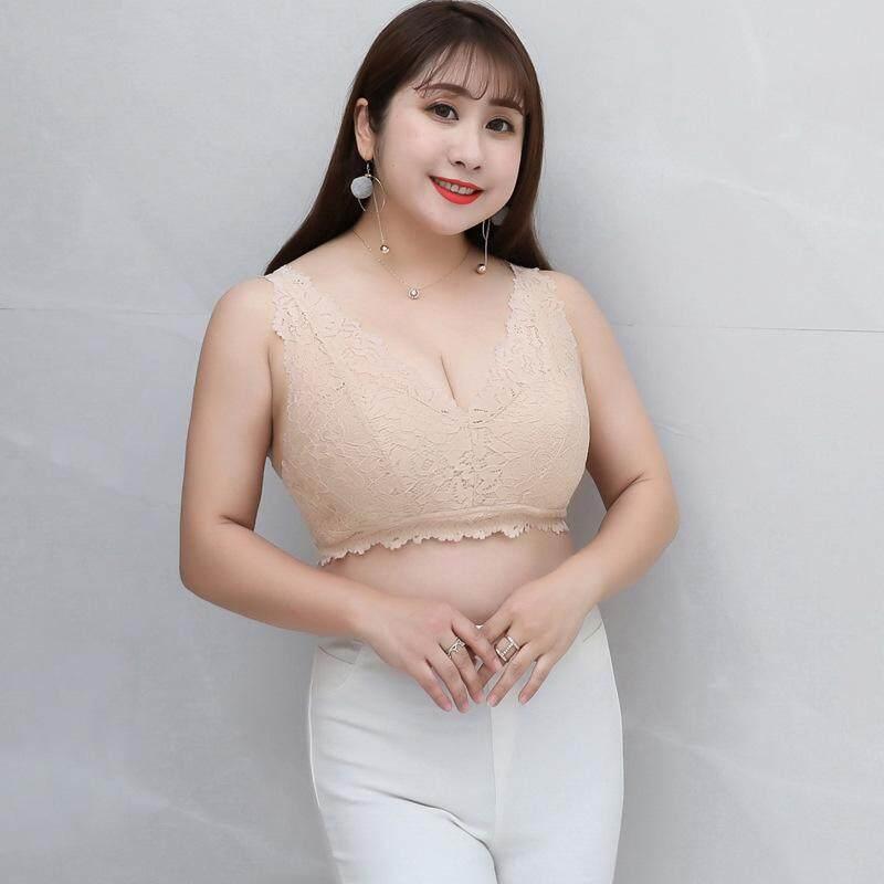 8d50406621e L XL XXL plus size Large size underwear female V-neck lace beauty back bra