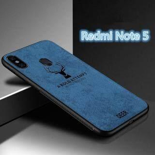 Cho [Xiaomi Redmi Note 5] Ốp Lưng Họa Tiết Nai Sừng Tấm Dệt Bằng Vải Bố Mềm Hình Hươu Dập Nổi Cổ Điển thumbnail