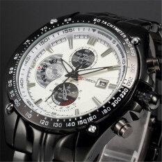 CURREN 8083 Đồng hồ đeo tay thạch anh hoàn toàn bằng thép không gỉ có khả năng chống nước kiểu dáng thể thao dành cho nam – INTL