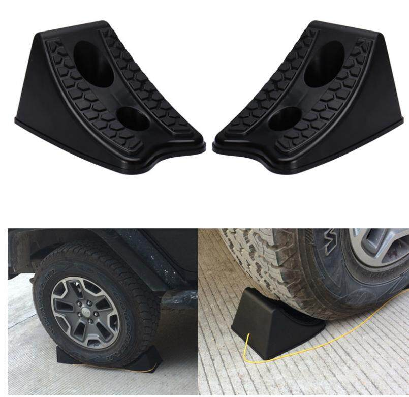 2 Premium Rubber Plastic Wheel Chocks Stop For Auto-Car-Rv-Trailer-Camper-Atv By Paidbang.
