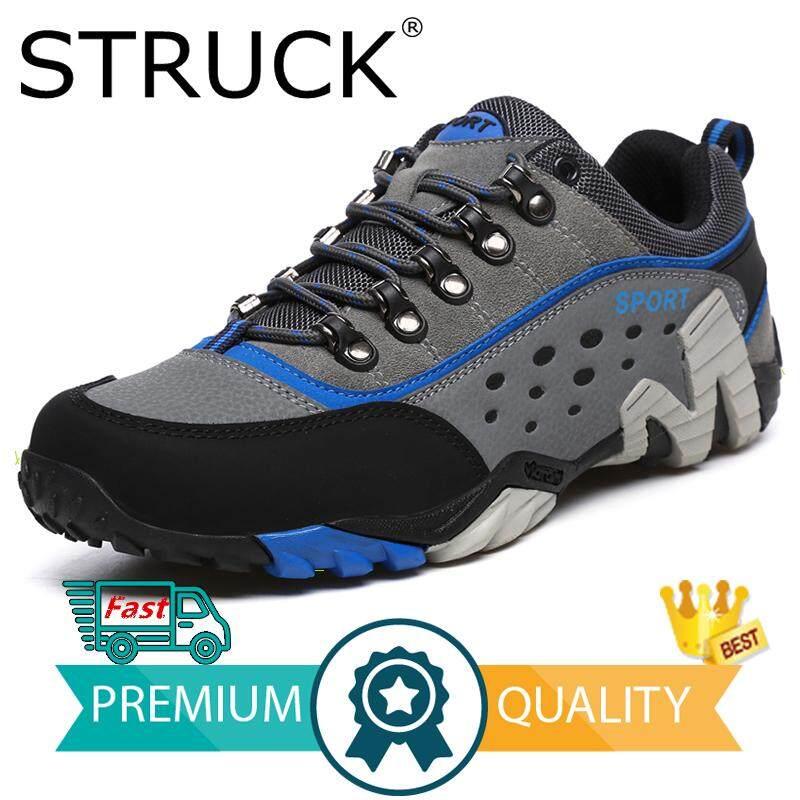 ce9d431f5ff6 STRUCK Spring Hiking Shoes Men Women Waterproof Shoes Wear-resisting  Climbing Mountain Shoes Leather Sport