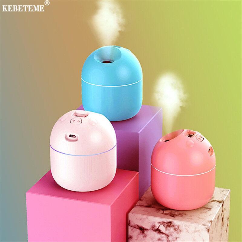 KEBETEME Máy làm ẩm không khí khuếch tán tinh dầu 220ML xách tay kèm sạc USB với đèn LED ban đêm, công nghệ siêu âm và chạy êm, giá siêu tốt - INTL