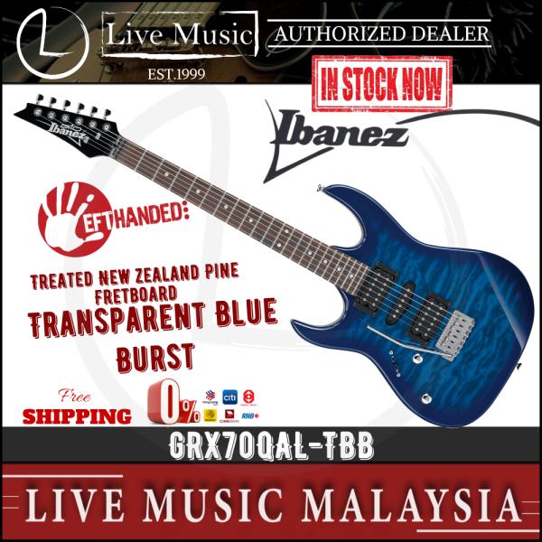Ibanez Gio GRX70QAL-TBB Left-Handed Electric Guitar - Transparent Blue Burst (GRX70QA/GRX70QAL) Malaysia