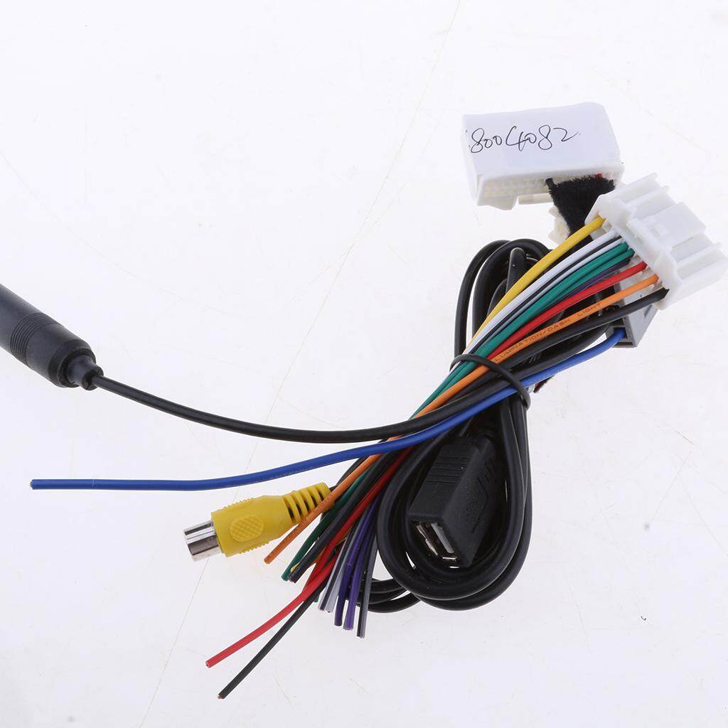 Homyl Car Audio 40 Cables Kit Stereo Wiring Harness Wire Accessories for  Teana Qashqai Easy Installation