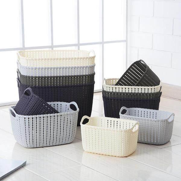 Rectangle Plastic Portable Storage Basket Rattan Sundries Storage Basket Bathroom Shower Basket Bath Basket Large size