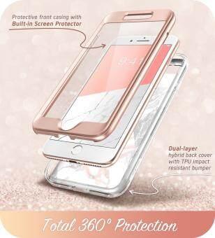สำหรับ iPhone 7 PLUS 8 PLUS ปลอก I - Blason Cosmo ในตัวปกป้องหน้าจอ Glitter  CLEAR เคสครอบคลุมกันกระแทก