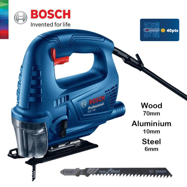 BOSCH GST 700 Jigsaw With Vacuum Connection (500W) - 06012A70L0 - 3165140899079