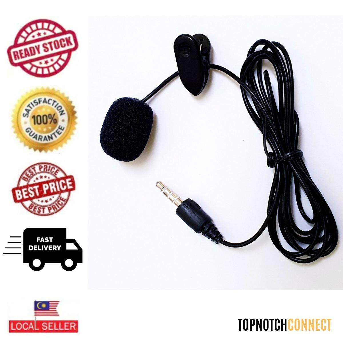 iPhone Android High Quality Clip Microphone For Mobile PC Laptop DSLR Camera