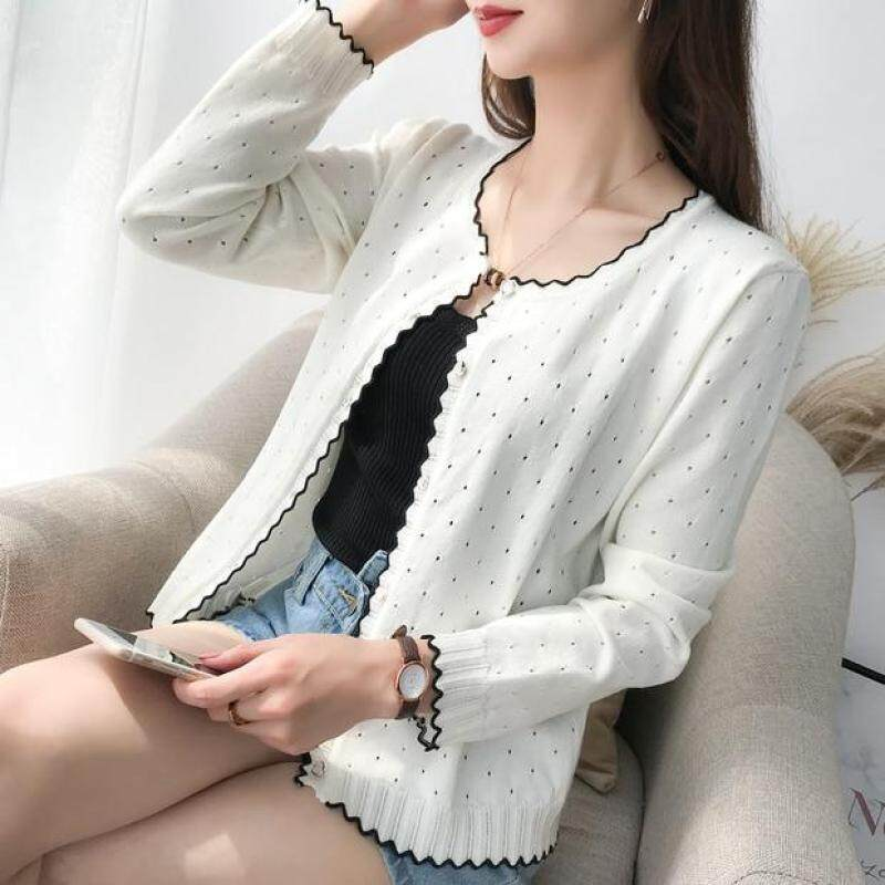 9254 Short style Knitted cardigan with shawl and thin sweater, 9 rows and 2 rows on 31 2 floor-in Cardigans from Womens Clothing on