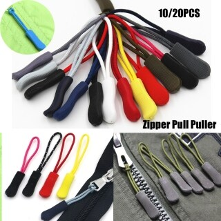 10 20pcs Outdoor tools Bags Clip Buckle Suitcase Tent Backpack 9 colors Zip Puller Replacement Zipper Pull Ends Lock Zips Cord Rope Pullers thumbnail